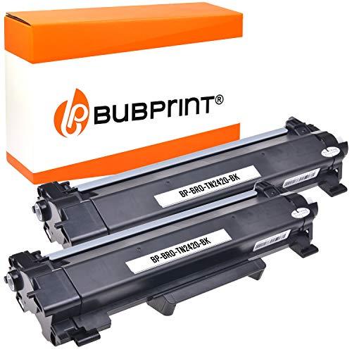 2 Bubprint Toner kompatibel für Brother TN-2410 TN-2420 DCP-L2510D DCP-L2530DW DCP-L2550DN HL-L2310D HL-L2350DW HL-L2370DN HL-L2375DW MFC-L2710DN DW MFC-L2730DW MFC-L2750DW Schwarz je 3.000 Seiten