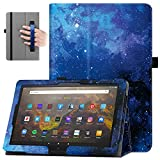 Famavala Folio Case Cover for 10.1' All-New Fire HD 10 / Fire HD 10 Plus Tablet [11th Generation, 2021 Release] (BlueSky)