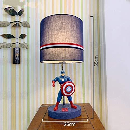 JSJJARD Lámpara Escritorio Resina Moderna Lámparas de Mesa Infantil Dormitorio Luces Violín Car Book Superman Spiderman Sombra lámpara de Escritorio llevada Soporte Accesorios Ligeros