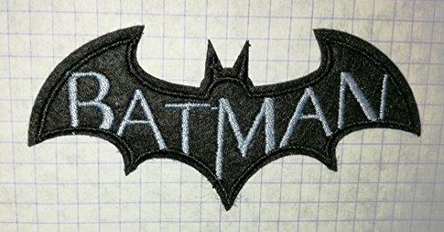 Batman Schwarz Fledermaus bestickt Tuch Eisen auf Patch