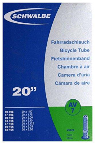 Schlauch Schwalbe AV 7 20x1.75-2.125 Zoll 40/62-406 AV40mm 1432021000