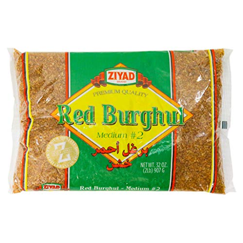 Ziyad Red Burghul, Number 2 Medium Bulgur, 100% All-Natural, Bread Filler Perfect for Bread Crumbs, Oats, Tabouli, Kibbeh, Curries! 32 oz