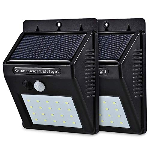 Yacikos Solar Lights Outdoor , [46 LED] Solar Motion Sensor light Waterproof Solar Security Wireless LED Wall Lights for Outdoor, Garden, Patio Yard, Deck Garage, Fence, Driveway Porch (2 Pack)