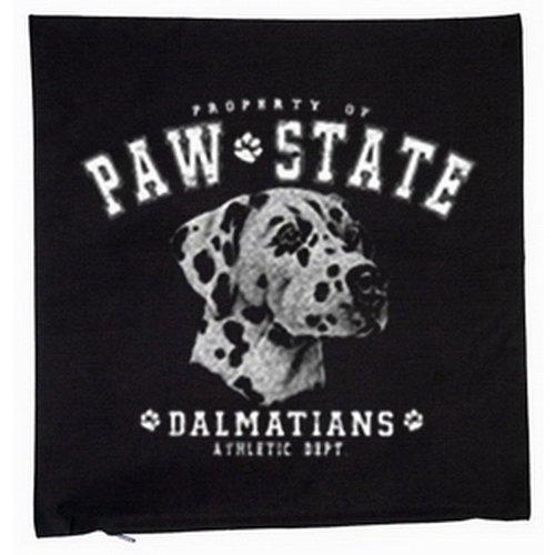 Dalmatien chiens housse de coussin 40 x 40 cm (noir)