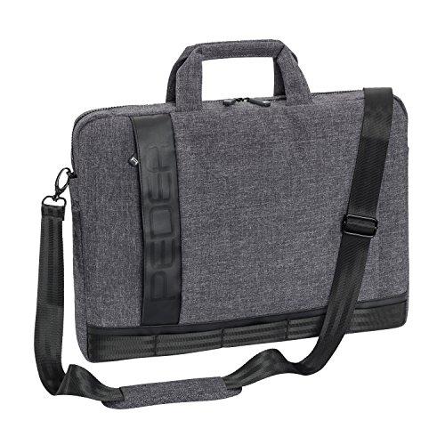 Pedea Laptoptasche Fancy Notebook-Tasche bis 15,6 Zoll (39,6 cm) Umhängetasche mit Schultergurt, Grau