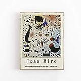 Lámina Joan Miró - Cifras y constelaciones, enamorado de una mujer - Arte de pared - Lienzo decorativo sin marcos Q-21 40x50cm