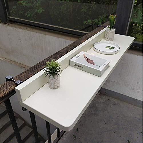 XLAHD Verstellbarer Balkon-Hängetisch, klappbarer Küchen-Esstisch-Wandtisch, Couchtisch im Freien Platzsparende Wand-Computertisch-Workstations an der Wand