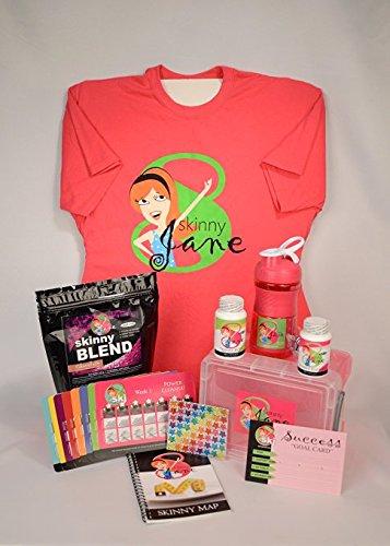 Skinny Jane - Weight Loss Plan - 8 Week Diet Program for Women - Lose Weight Fast - Eating Plan, Best Tasting Protein Shake, Diet Supplements - Lose up to 35 lbs. (Cookies 'n' Cream, Large)