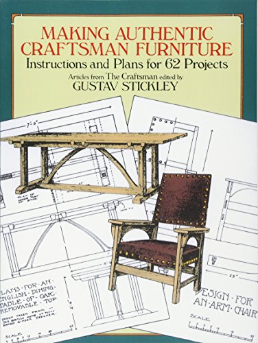 Compare Textbook Prices for Making Authentic Craftsman Furniture: Instructions and Plans for 62 Projects Dover Woodworking First Thus Used Edition ISBN 9780486250007 by Stickley, Gustav