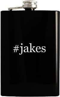 #jakes - 8oz Hashtag Hip Drinking Alcohol Flask, Black