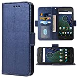 Phone Cover for Moto G5 Plus Folio Flip Wallet Case,PU Leather Credit Card Holder Slots Full Body Protection Kickstand Protective Phone Cover for Motorola MotoG5 5th Gen G5+ XT1687 G5plus DarkBlue