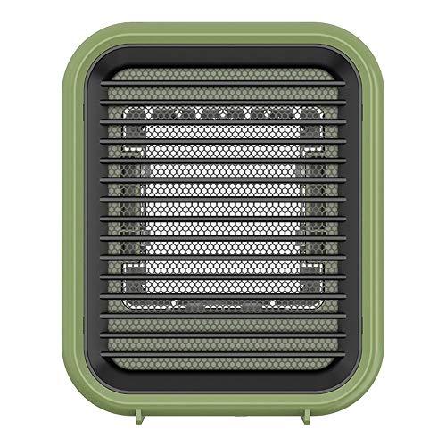 XiaoDong1 Kleine tragbare Heizung Home Desktop Mini Heizung Mini Klimaanlage Elektrische Heizung (Schwarz, Grün, Rosa, Weiß) (Farbe : Green)