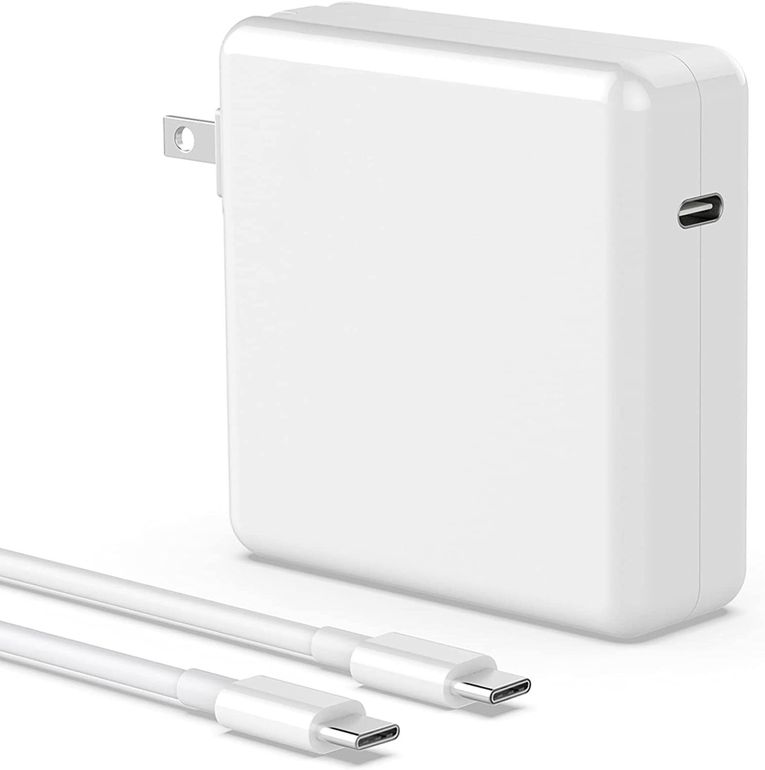 Mac Book Pro Charger - 96W USB C Power Adapter Compatible with MacBook Pro 16, 15, 13 Inch 2020 2019 2018, MacBook Air 13 Inch, Thunderbolt 3 Laptop Power Supply, Included 6.6ft USB-C to USB-C Cable