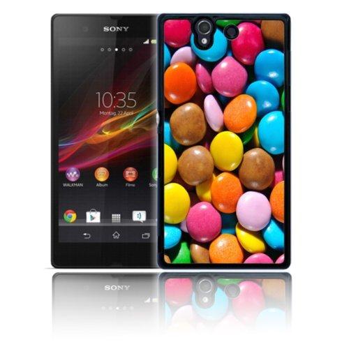 Exklusiv 'Smarties Schokolade' Polycarbonat Schutzhülle für Sony Xperia Z Tasche, stoßfest