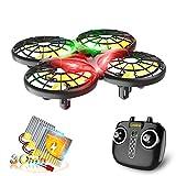 Loolinn | Dron para Niños - Mini Drone con Tecnología Anti-Colisión Automática / Acrobacias con Giro de 360° / Tiempo de Vuelo de 30 Minutos ( Tres Pilas Incluidas )
