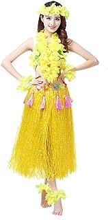 Hawaiian Hula Dance Costume Ballet Show Cosplay Dress Skirt Garland for Adult 80CM Full Sets