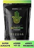 ORGANIC SUPER GREEN POWDER 250g by BioKing Labs | Premium Organic & Raw Super Greens Superfood Powder | NO FILLER, NO SUGAR, NO SWEETENER | Our All Natural Alkaline, Vegan Friendly, Superfood Powder Is Packed With Protein, Vitamins, Probiotics & Antioxida