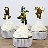 Ninja Turtles Themed Cupcake Toppers Party Pack for 24 Cupcakes Teenage Mutant