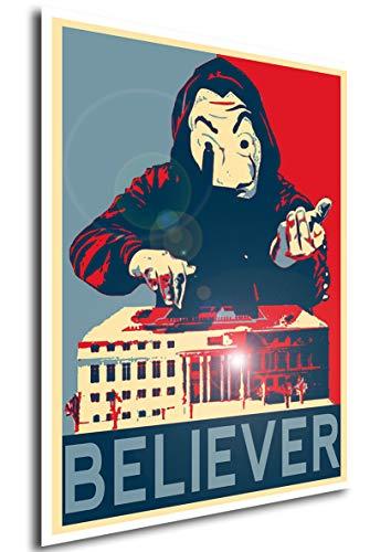 Instabuy Poster La casa de Papel Propaganda Believer - A3 (42x30...