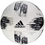 adidas Performance Champions League Finale Top Training Soccer Ball, White/Vapor Steel Grey/Tech Green, Size 5