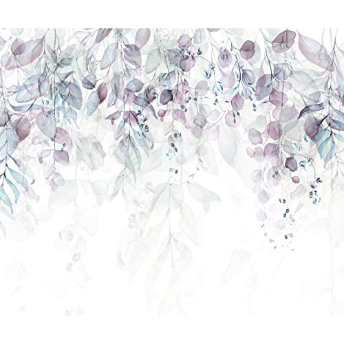 decomonkey Fototapete Pflanzen 350x256 cm Design Tapete Fototapeten Vlies Tapeten Vliestapete Wandtapete moderne Wand Schlafzimmer Wohnzimmer Natur Laub