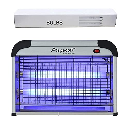 ASPECTEK Powerful 20W Electronic Insect Indoor Killer, Bug Zapper, Fly Zapper, Mosquito Killer-Indoor Use Including 2 Pack Replacement Bulbs