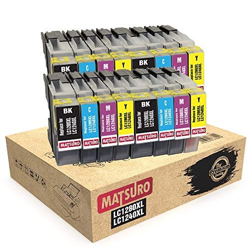 Matsuro Original   Compatible Cartuchos de Tinta Reemplazo para Brother LC1280XL LC1240XL LC1280 LC1240 (4 Sets)