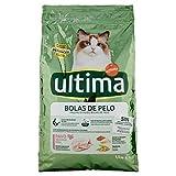 ultima Pienso para Gatos para Prevenir Bolas de Pelo, Sabor Pavo - 1.5 kg