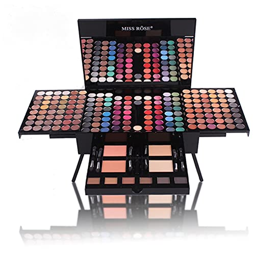 Makeup Kit For Women Full Kit All-in-One Mirror Makeup Gift Shimmer Eyeshadow/ Matte Shimmer Mixing Pallet Eye Shadow (A,180 Color)