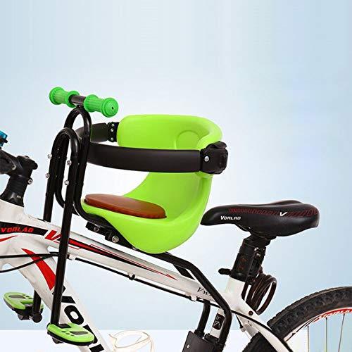 Audor Kindersitz, Fahrradsitz Kind Modischer Abnehmbarer Fahrrad-Vordersitz Kindersitz Pedal mit Griff für Herrenfahrrädern und Damenrädern (Grün)