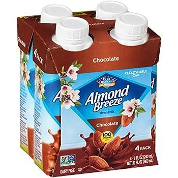 Almond Breeze Dairy Free Almondmilk Chocolate Single Serve 4 Count  Pack Of 6