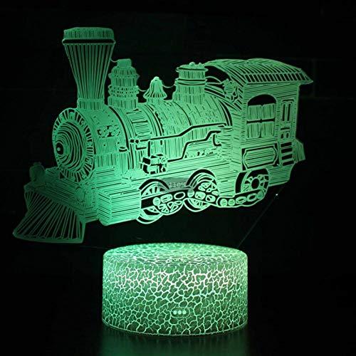 Lámpara de ilusión 3D para cultivar la luz de estado de ánimo 7 colores cambiantes acrílico LED noche luz USB cables dormitorio decoración escritorio