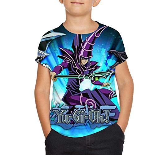 Jugend Kinder Kurzarm Yu-GI-Oh 3D Print Short Shirts for Youth Kids Casual Tee Tops