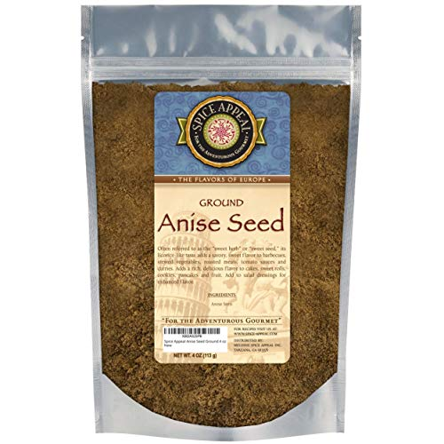 Spice Appeal Anise Seed Ground in resealable stay fresh pouch 4 oz
