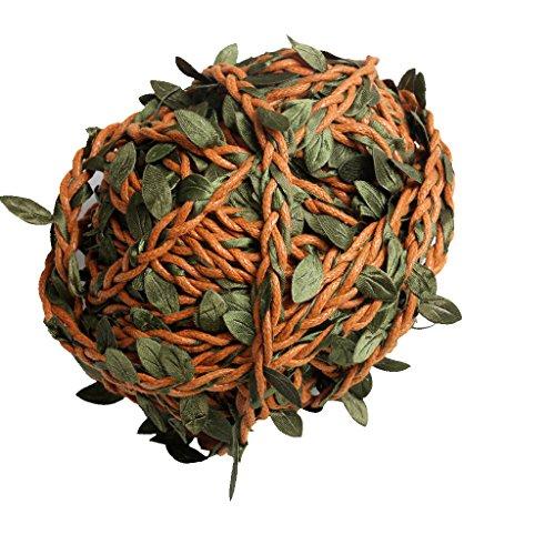 homozy 22yards Artificial Ivy Vine Leaf Garland Plants Fake - Brown
