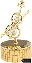 24k Gold Plated Violin Music Box Made with Genuine Matashi Crystals