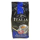 Saquella Kaffee Bar Italia Gran Gusto Espresso Coffee Beans 1000 Grams 2.2 Pounds