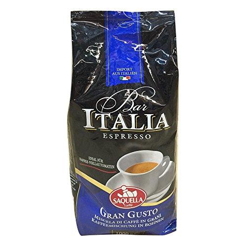 Saquella Caffe Saquella Espresso Bar Italia Gran Gusto Bohnen, 1er Pack (1 x 1 kg)