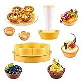 FANDE Kit Pressino per Pasta Pasticcera, Kit Per Stampi Per Cupcake Per Muffin, Strumenti Di Cottura Fai-da-te, per Pasta Biscotto Muffin Ciambella Strumenti per Dolci da Forno