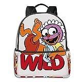 Muppet Babies-Baby Animal-Wild Student School Bag - Mochila escolar para ciclismo, ocio, viajes, camping al aire libre