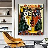 Cuadros de Pared 20x30cm sin Marco Resumen Pablo Picasso Cubismo Carteles e Impresiones Cuadro de Arte de Pared para la decoración de la Pared de la Sala de Estar Cuadro