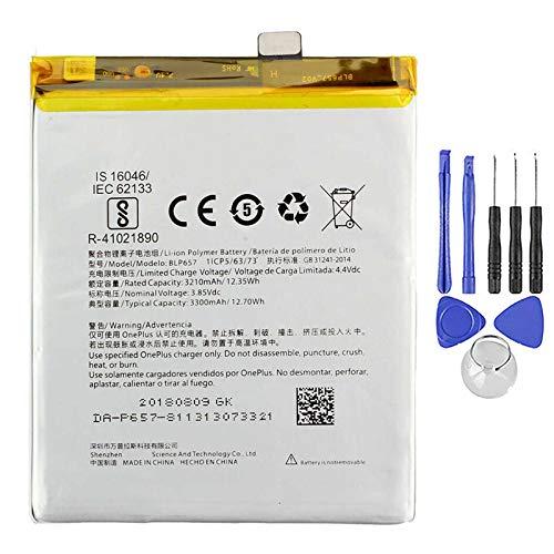 Ellenne Batteria Compatibile con ONEPLUS 1+ BLP657 per One Plus 6 3300MAH con Kit SMONTAGGIO Incluso