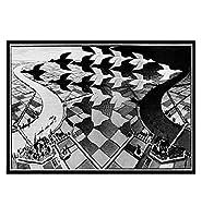 シュールな幾何学的なアートパネルワークキャンバス絵画インテリアヴィンテージポスターとプリント壁アートパネル画像抽象ポスターリビングルーム家の装飾60x90cmフレームなし