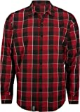 LRG Core Collection 47 Woven Men's Long-Sleeve Fashion Shirt - Maroon/Medium