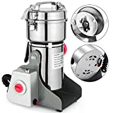 Mophorn Electric Grain 300g Mill Grinder Powder Machine 1500W 50-300 Mesh Food Grade 25000RPM Stainless Steel for Kitchen Herb Spice Pepper Coffee