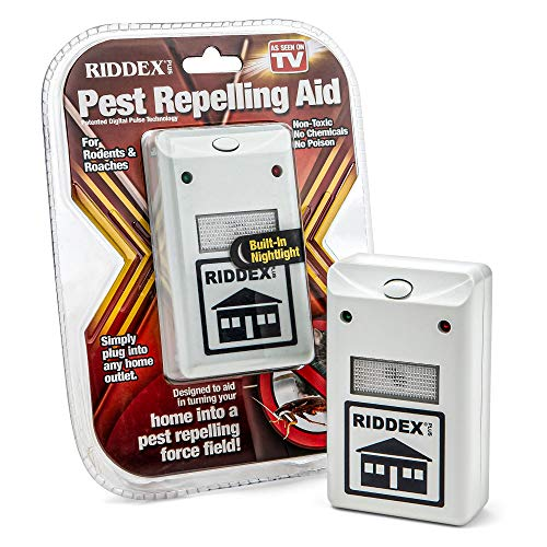 Price comparison product image Riddex Plus Pest Repeller for Rodents and Insects,  Plug-In Indoor Repellent