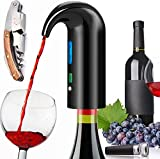 Electric Wine Aerator Pourer, Portable One-Touch Wine Decanter and Wine Dispenser Pump for Red and...