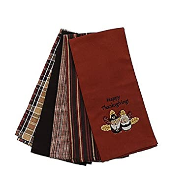 Happy Thanksgiving Kitchen Towels Set of 5