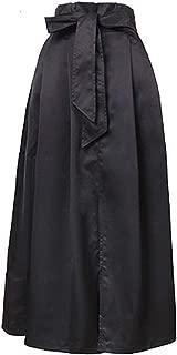 Women Casual Long Skirt Bow Streetwear Black Blue Skirts Woman Party Office Lady Skirt Winter