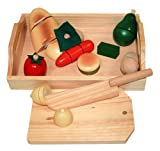 Billa24 Beluga 70056–Wooden Fruit and Vegetables for Chopping Board with Knife, Tray and Table [German Import]